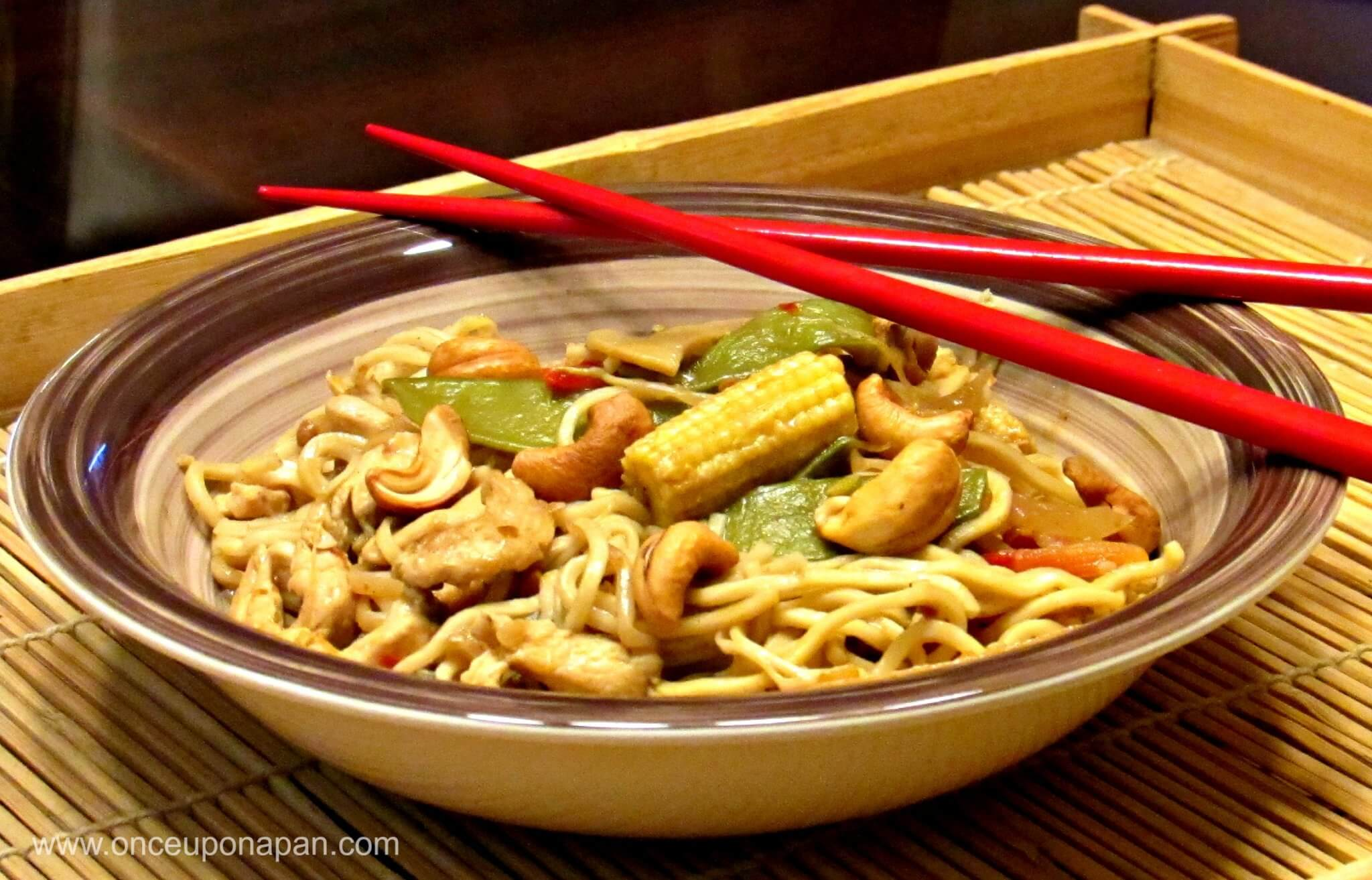 Chicken and Vegetables Satay Noodles