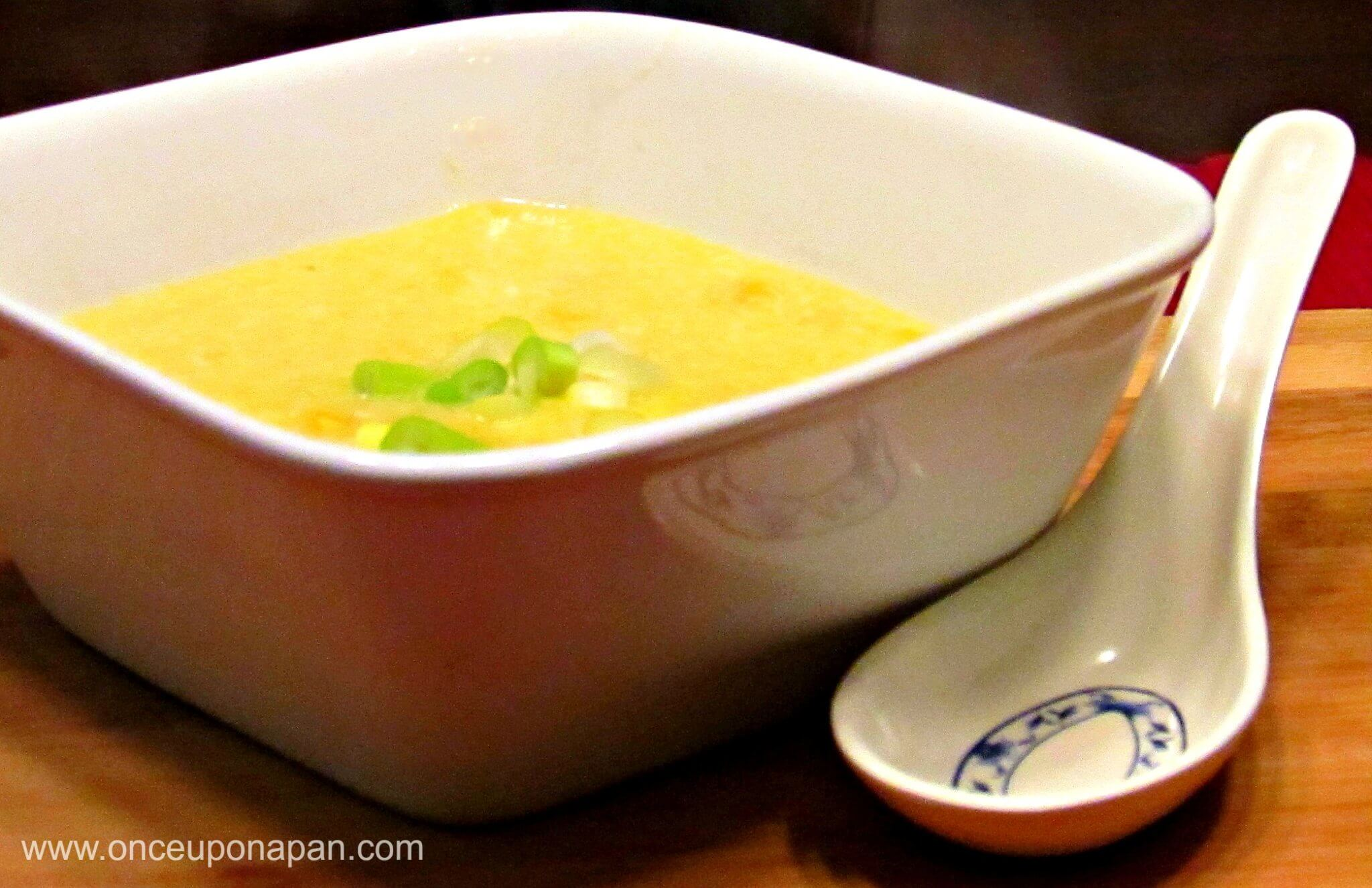 Corn Egg Drop Soup‏