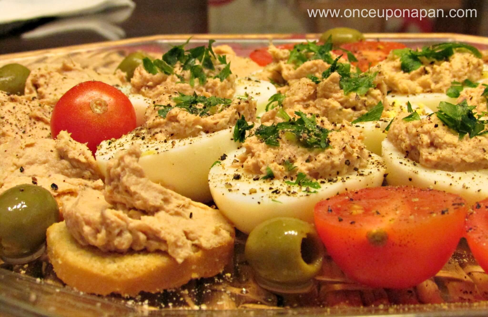 Eggs stuffed with Tuna