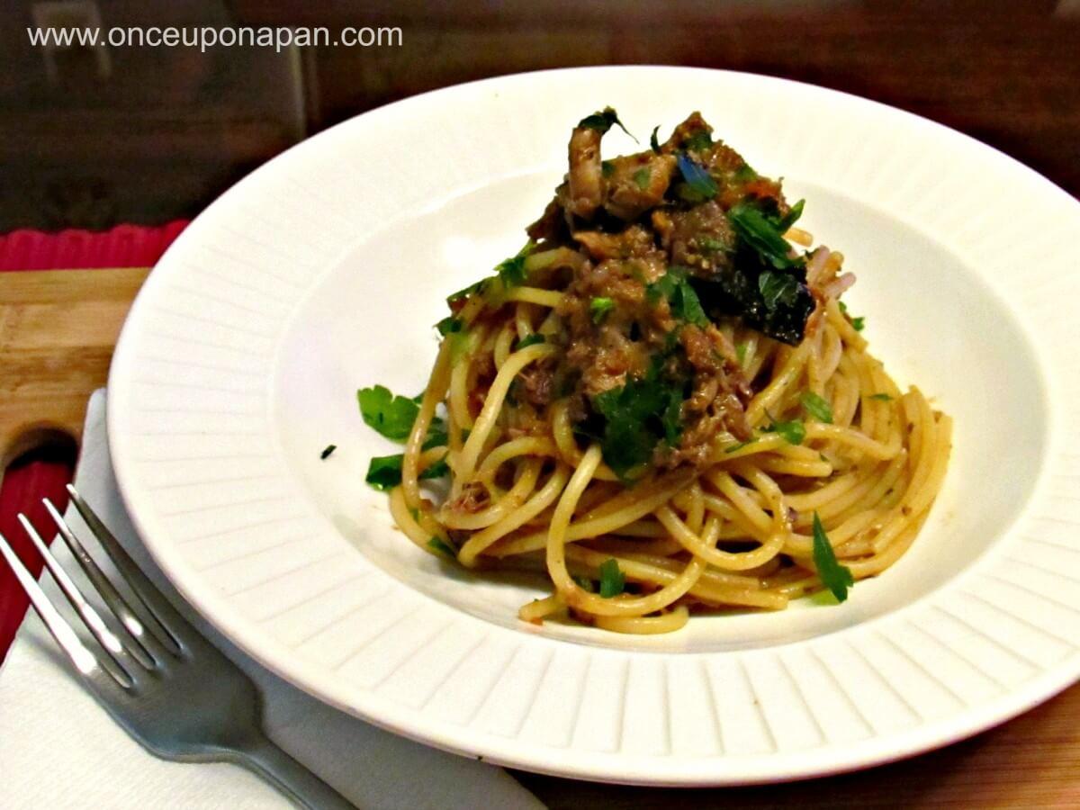 Spaghetti with Rabbit sauce