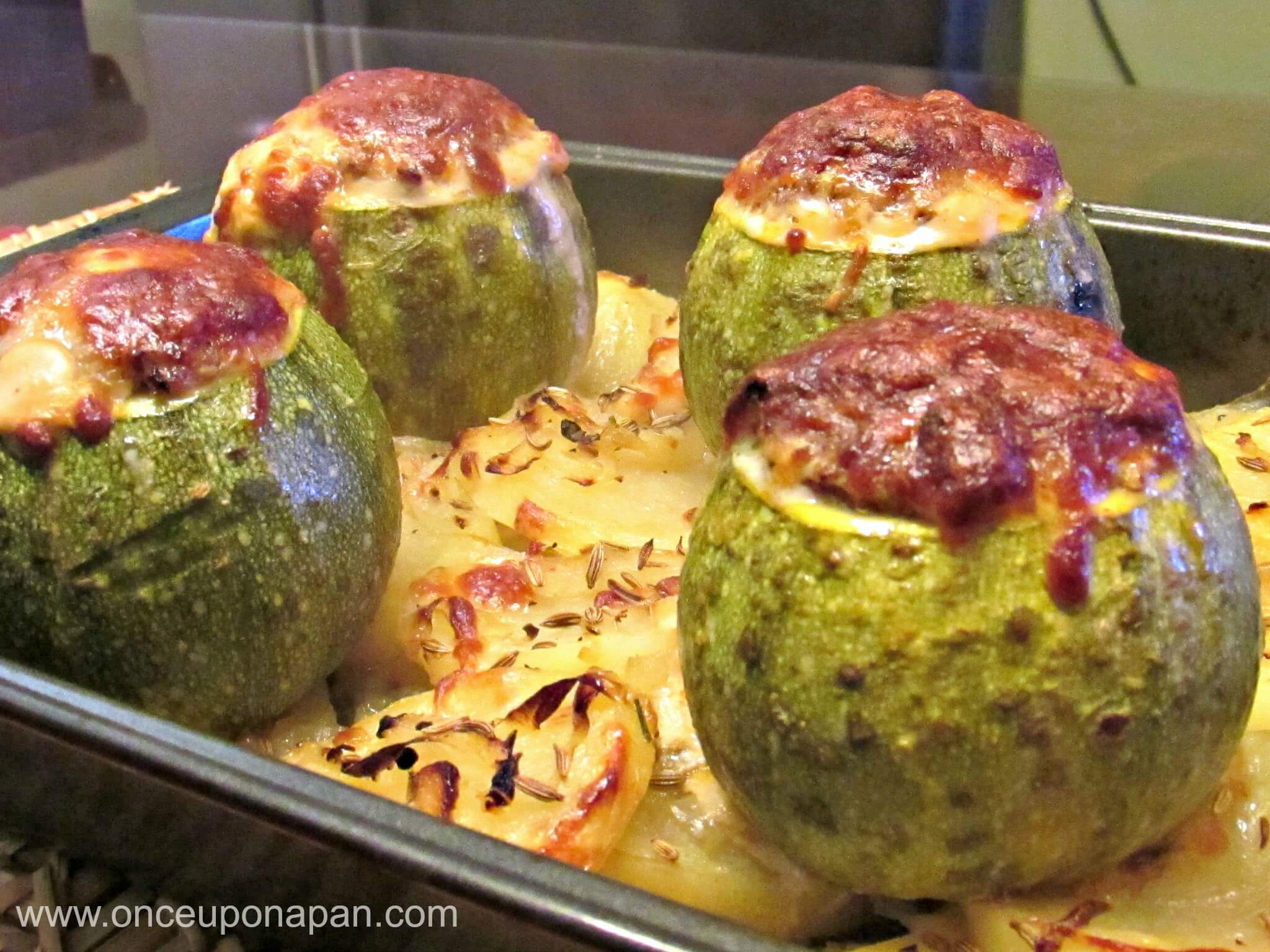 Baked Stuffed Marrows