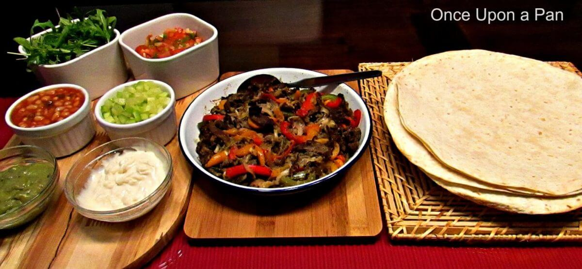 Mexican steak fajitas