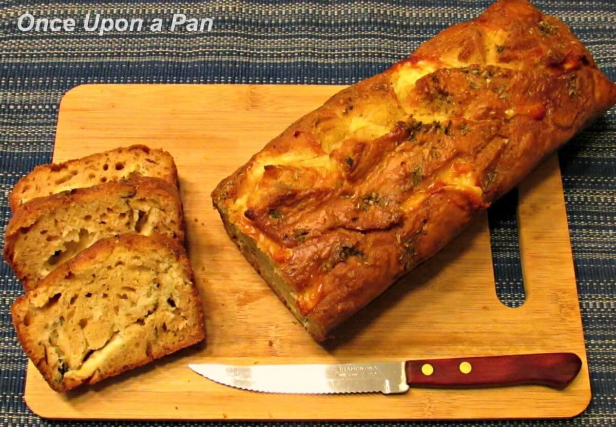 Cheese, herbs and garlic bread