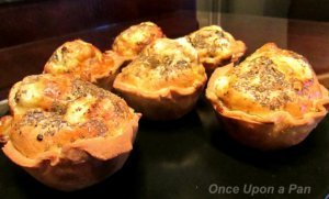 Egg and feta cheese tartlet