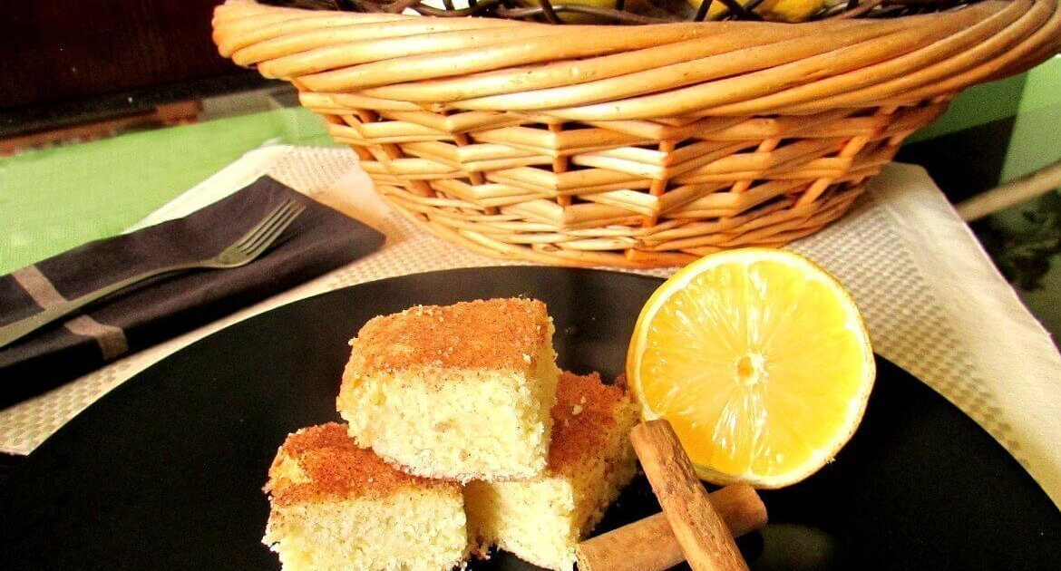 Lemon snickerdoodle blondies