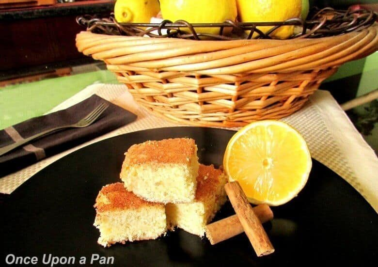 Lemon snickerdoodle blondies